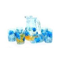 Bộ bình ly hoa hồng xanh BBL4